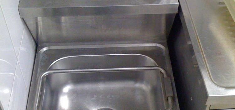 Handwasch-/Ausgussbecken-Kombination