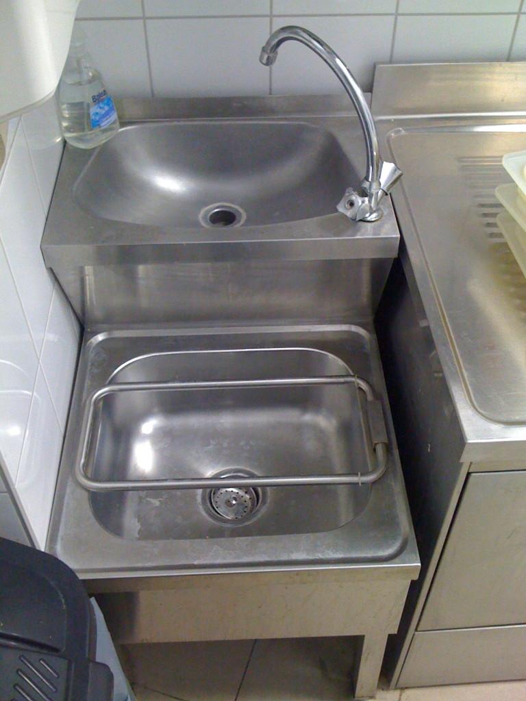 Handwasch-:Ausgussbecken